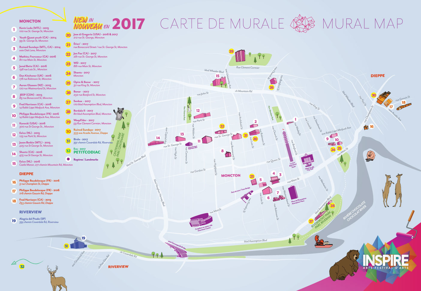 Mural map moncton inspire